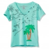 Palm Tree, V-Neck Applique