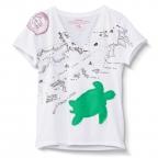 Turtle V-Neck Applique
