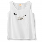 Camisole, Voile, 3/4 Sleeve, Large Embroidered Seagull