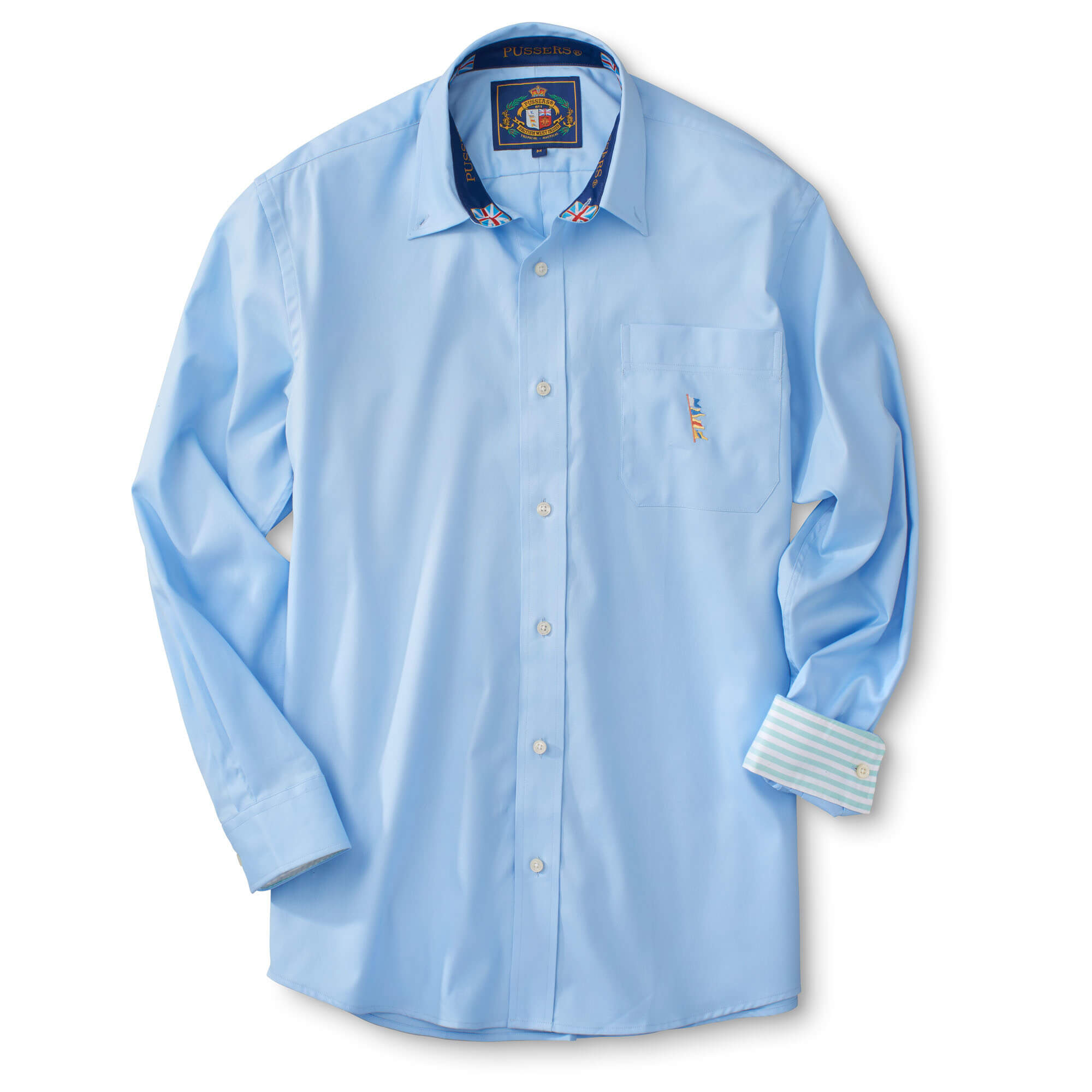 Long Sleeve On Down Solid Oxford