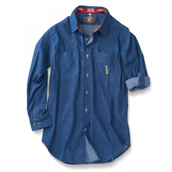 Ls Denim Deck Shirt, Blue Only