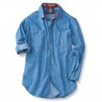Ls Denim Deck Shirt, Blue Only