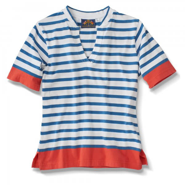 Ss, Knitted Stripe, Blue-White, Red Bands