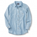 Shirt, Ls Chambray Blue