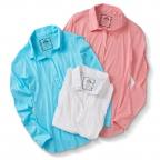 Ls W/Darts,White,Pink,Blue