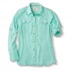 Shirt Linen, Ls, Barbary Tab Sleeve,Pink,Green,Blue,White