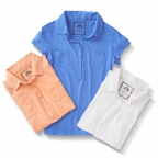 Cap Sleeve Henley, White,Apricot,Blue