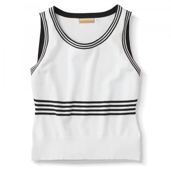 Tank, Knitted Cotton, White