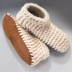 Booties, Cable Knit Wool