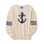 Sweater, Anchor Design, Pima Cotton, Natural