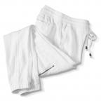 Linen W/Zipper Pockets, White, Lt Blue