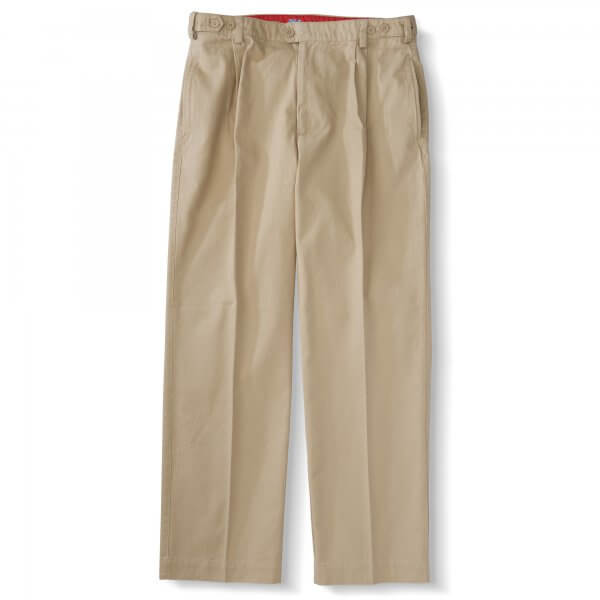 Chinos-Pleats & Waist Tabs