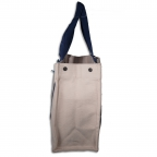 Big, Canvas Ladies Tote W/Folding Batten Bottom