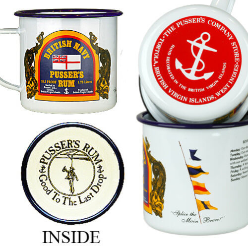 Pusser's Good To The Last Drop Tin Drinking Mugs