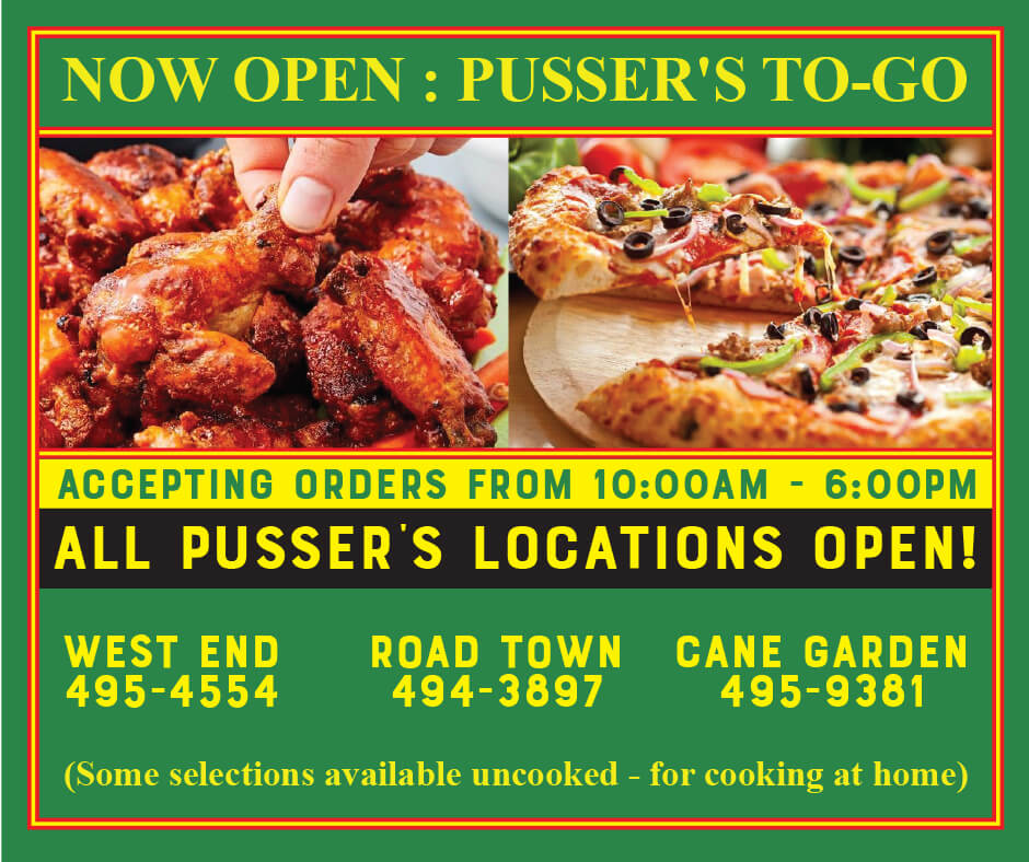 PUSSERS TO GO OPEN NOW AT ALL LOCATIONS