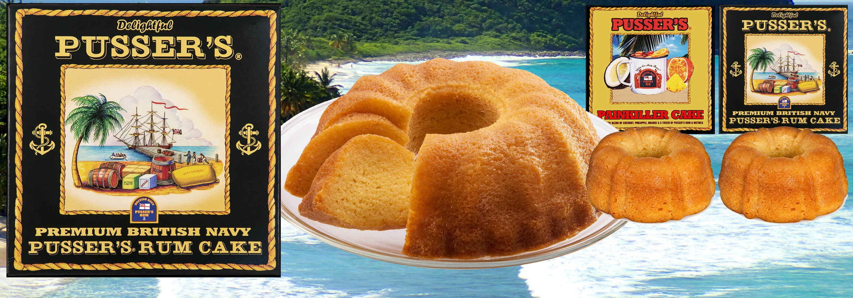 Pusser's Rum Cakes & Painkiller Cakes