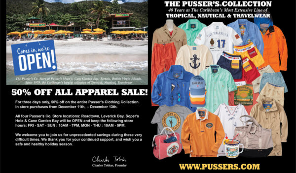All Pusser's Co. Stores Open December 5th!